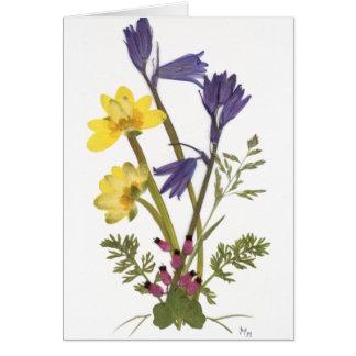 Pressed Flower Designs Card