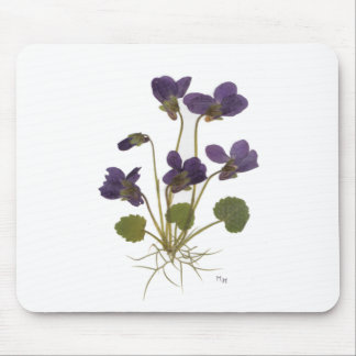 Pressed Flower Designs Mouse Pad