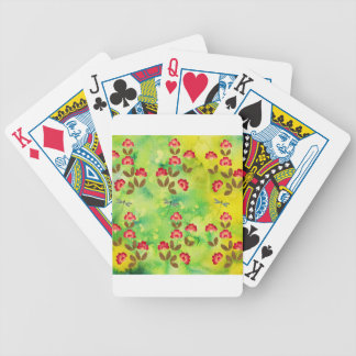 PRESSED FLOWERS BICYCLE PLAYING CARDS