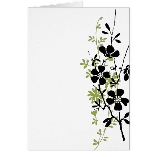 Pressed Flowers Card