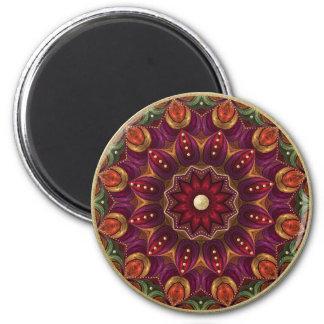 Pressed Foil Mandala Magnet