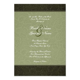 Pressed Leather  Wedding Invitation