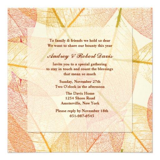 Pressed Leaves Invitation