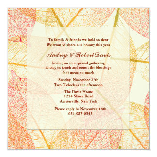 Pressed Leaves Invitation