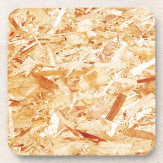 Pressed wood coaster