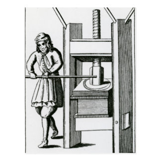 Pressing books postcard