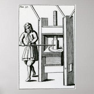 Pressing books poster