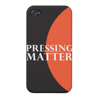 """Pressing Matter"" iPhone 4 Covers"