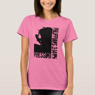 Pressing On Philippians 3:14 Black Rock Climb Art T-Shirt