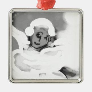 pressingforwardskateblkandwht.png metal ornament