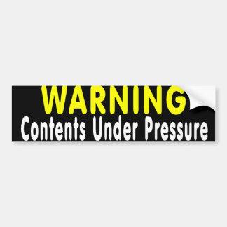 Pressure Bumper Sticker