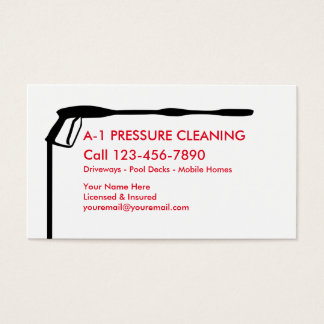 Pressure Cleaning Business Card