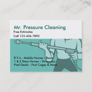 Pressure Washing Business Cards Zazzle