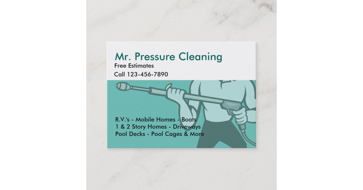 Pressure Cleaning & Washing Business Card | Zazzle.com
