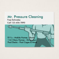 Clean business cards templates zazzle standard sized business cards pressure cleaning washing flashek Gallery