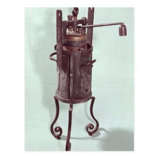 Pressure cooker invented by Denis Papin  1679 Postcard