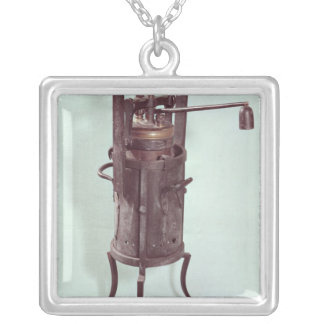 Pressure cooker invented by Denis Papin  1679 Silver Plated Necklace