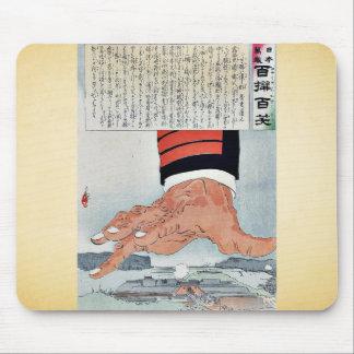 Pressure from a heavy hand by Kobayashi, Kiyochika Mouse Pad