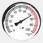 Pressure Gauge Sticker
