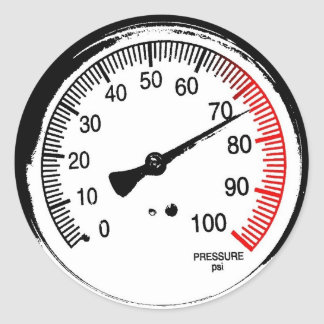 Pressure Gauge Sticker