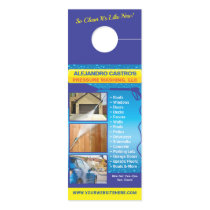 Pressure Power Washing Large Template Door Hanger