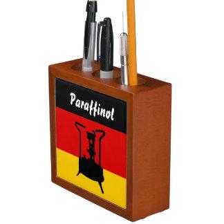 Pressure stove with German flag Desk Organizer