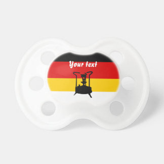 Pressure stove with German flag Pacifier