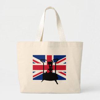 Pressure stove with Union Jack Large Tote Bag