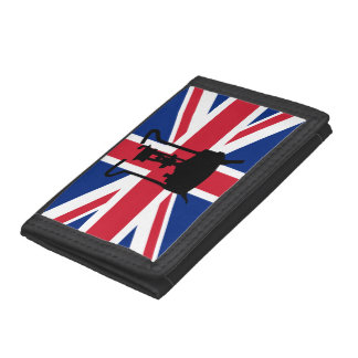 Pressure stove with Union Jack Tri-fold Wallet