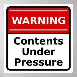 Pressure Warning Poster
