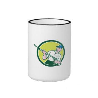 Pressure Washer Water Blaster Circle Cartoon Ringer Mug