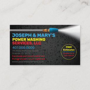 Pressure Washing Business Cards