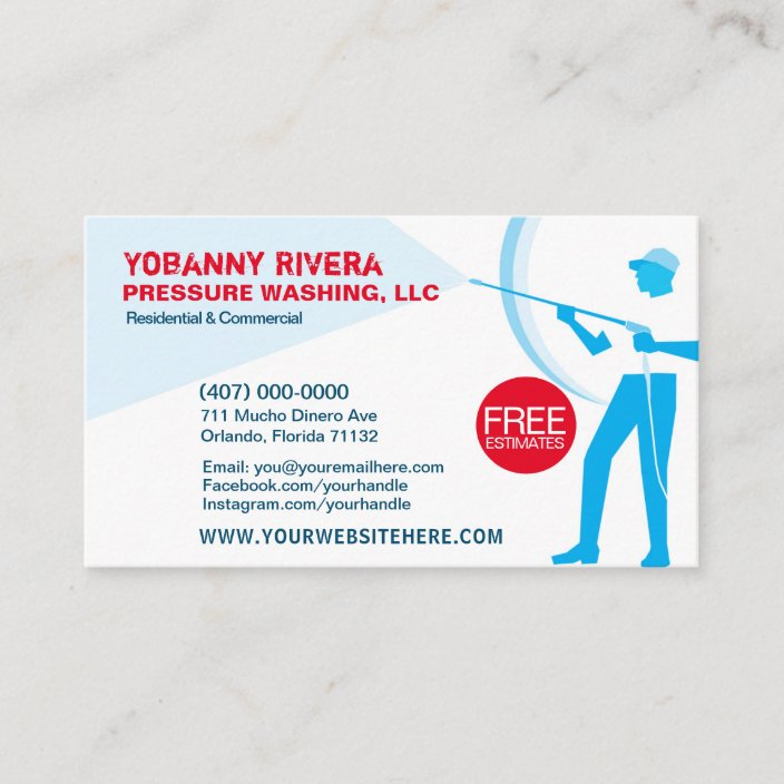Cleaning Business Card Template