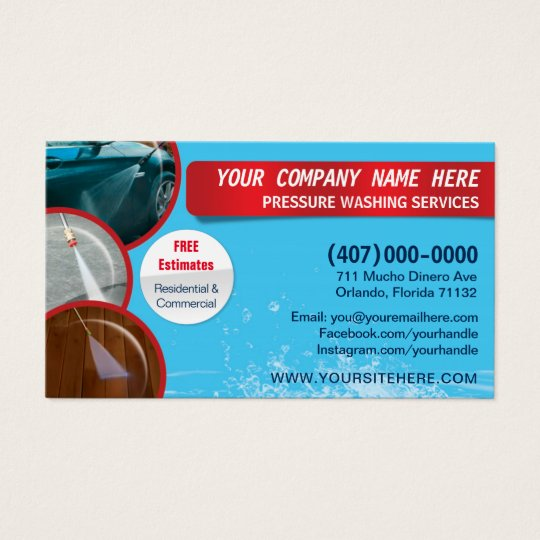 Pressure washing cleaning business card template zazzle pressure washing cleaning business card template fbccfo Image collections