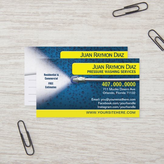 Pressure washing cleaning business card template zazzle pressure washing cleaning business card template cheaphphosting Gallery