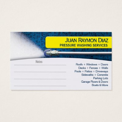 Pressure Washing Cleaning Business Card Template Zazzlecom - Windows business card template