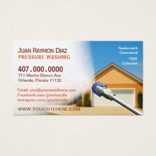 Cleaning business cards templates zazzle pressure washing cleaning business card template colourmoves Images
