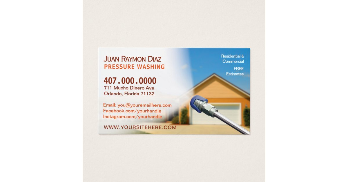 Pressure washing cleaning business card template zazzle wajeb Choice Image