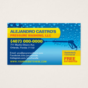 Pressure washing business cards templates zazzle pressure washing cleaning business card template fbccfo Image collections