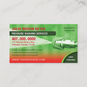 Pressure washing business cards templates zazzle pressure washing cleaning business card template flashek Images