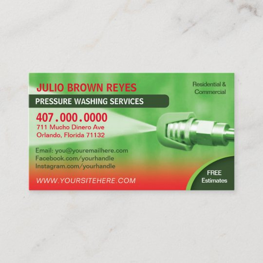Pressure washing cleaning business card template zazzle pressure washing cleaning business card template colourmoves
