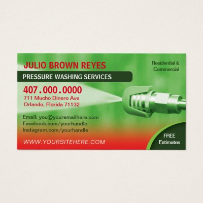 Pressure washing cleaning business card template zazzle fbccfo Image collections