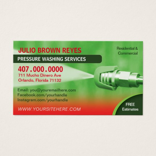 Pressure Washing Cleaning Business Card Template Zazzlecom - Cleaning business cards templates