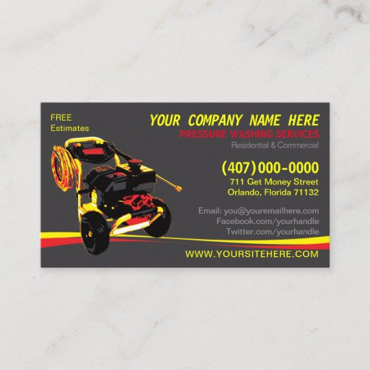Pressure washing cleaning business card template zazzle pressure washing cleaning business card template flashek Gallery