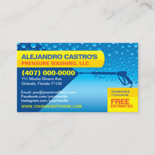 Pressure washing business cards zazzle pressure washing cleaning business card template colourmoves