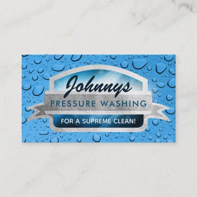 Pressure Washing Slogans Business Cards