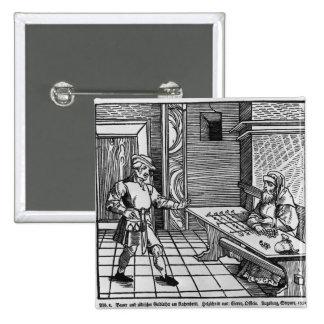 Prestamista de dinero, 1531 pin cuadrada 5 cm
