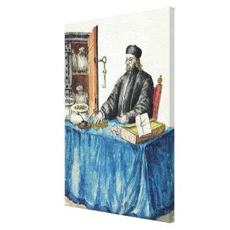 Prestamista veneciano, de un libro ilustrado impresiones en lienzo estiradas