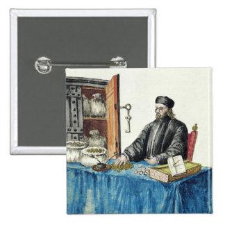 Prestamista veneciano, de un libro ilustrado pin cuadrado