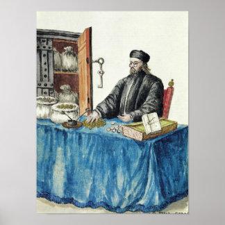 Prestamista veneciano, de un libro ilustrado póster